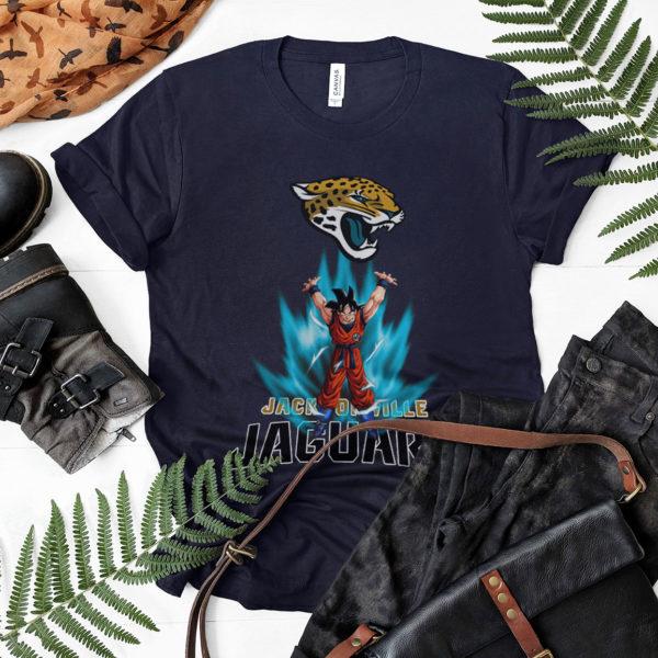 Son Goku Powering Up In Energy Jacksonville Jaguars Shirt