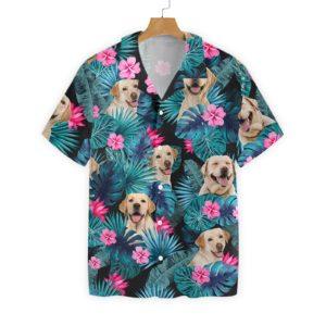 Tropical Labrador Hawaiian Print Shirts