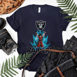 Son Goku Powering Up In Energy Oakland Raiders Shirt