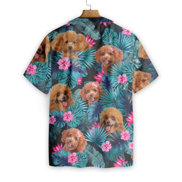 Tropical Poodle Hawaiian Print Shirts