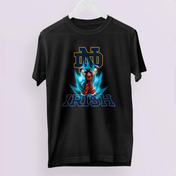 Son Goku Powering Up In Energy Notre Dame Fighting Irish Shirt