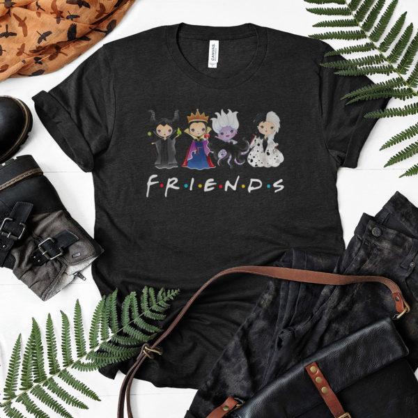 Maleficent, The Evil Queen, Ursula, Cruella De Vil Friends Disney Villains Characters Chibi Shirt