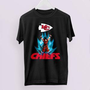 Son Goku Powering Up In Energy Kansas City Chiefs Shirt