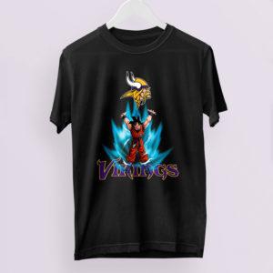 Son Goku Powering Up In Energy Minnesota Vikings Shirt