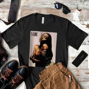 Vintage Retro Sade Singer Black Smooth T-Shirt