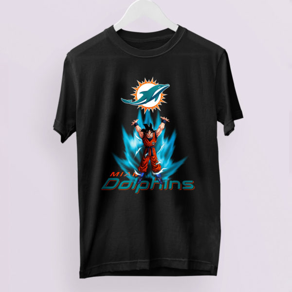 Son Goku Powering Up In Energy Miami Dolphins Shirt