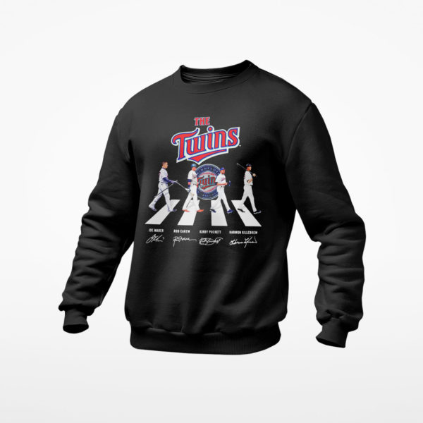 The Twins Abbey Road signatures shirt, ls, hoodie