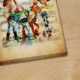 Personalized Toy Story You've Got A Friend In Me Sheet Music Poster Canvas
