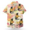 Crow wearing a Hawaiian shirt button up shirt