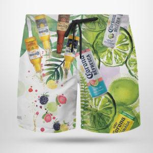 Corona Hard Seltzer Hawaiian Shirt, Beach Shorts
