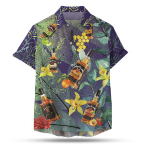 Jim Beam Bourbon Hawaiian Shirt, Beach Shorts