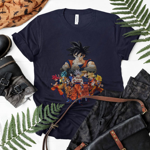 DBZ Son Goku All Transformation Forms Shirt, Super Saiyan Blue