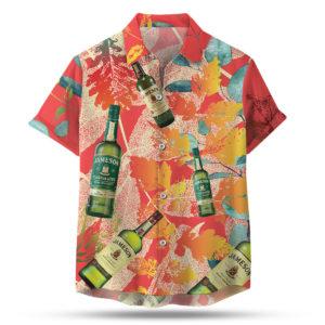 Jameson Irish Whiskey Hawaiian Shirt, Beach Shorts
