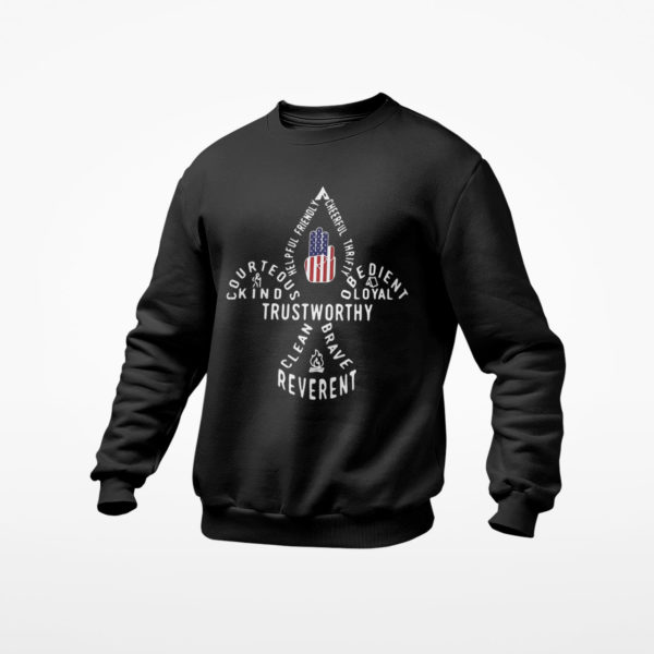 Scouting Gift Us America Flag Scout Law Shirt, ls, hoodie