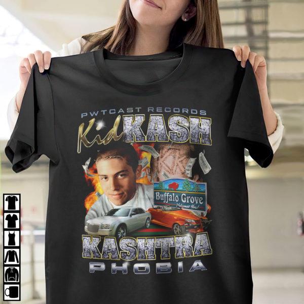 Pwtcast records kid kash kashtraphobia shirt, ls, hoodie