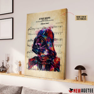 Personalized Darth Vader Star Wars Main Theme Sheet Music Poster Canvas