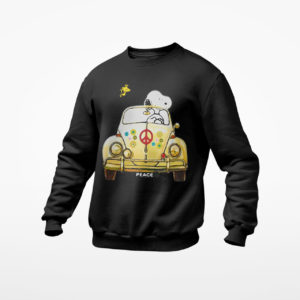Hippie Snoopy And Woodstock Driving Car shirt