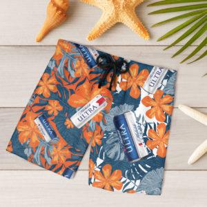Michelob Ultra Beer Hawaiian Shirt, Beach Shorts