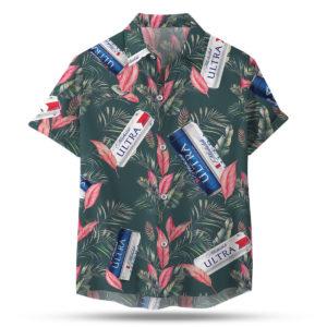 Michelob Ultra Hawaiian Shirt, Beach Shorts For Men