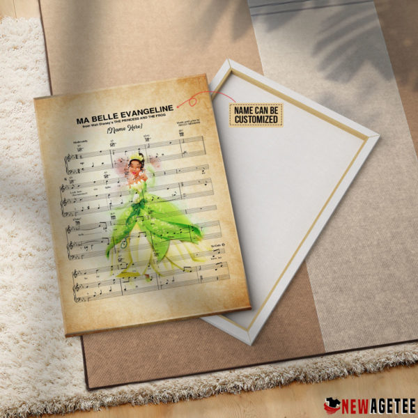 Princess and the Frog Tiana Ma Belle Evangeline Sheet Music Poster Canvas