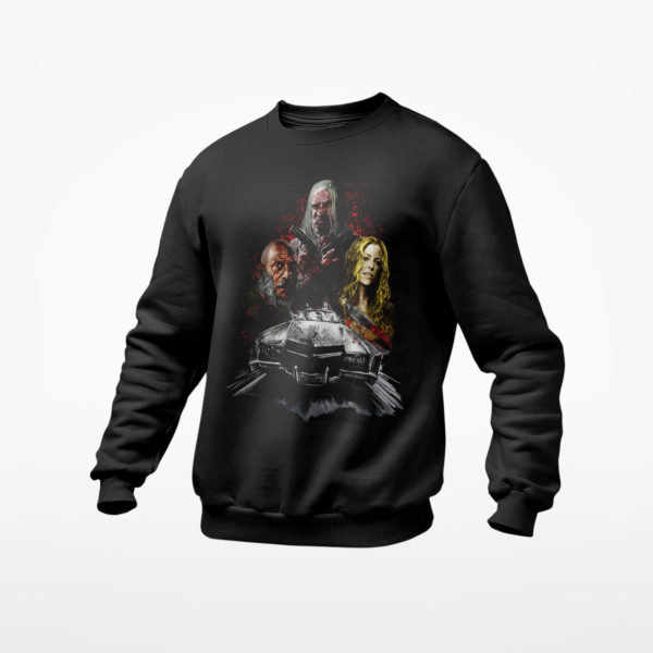 3 From Hell Shirt, Rob Zombie Captain Spaulding, Baby, Otis B. Driftwood