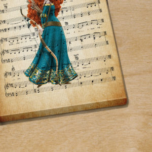 Personalized Princess Merida Into The Open Air Sheet Music Poster Canvas