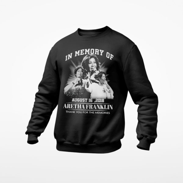 In memory of february August 16 2018 Aretha Franklin thank you for the memories shirt