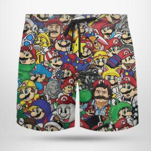 50 Shades of Mario Hawaiian Shirt, shorts