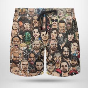 AEW Roster Hawaiian Shirt, shorts