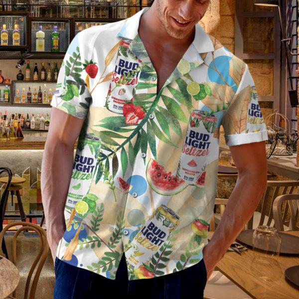 Bud Light Seltzer Hawaiian Shirt, Beach Shorts