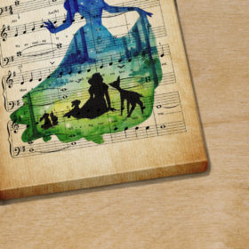 Personalized Snow White And The Seven Dwarfs I'm Wishing Sheet Music Poster Canvas
