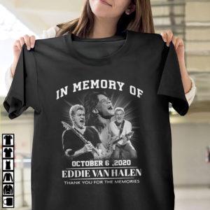In memory of october 6 2020 Eddie Van Halen thank you for the memories shirt, ls, hoodie