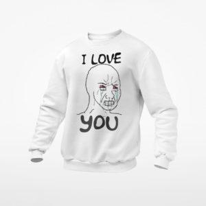 Simp I Love You Funny Crying Wojak Meme T-Shirt, LS, Hoodie