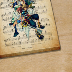 Kingdom Hearts Dearly Beloved Sheet Music Poster Canvas