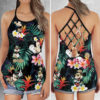 Mickey Mouse Gucci Criss Cross Open Back Tank Top