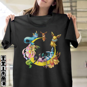 Pokemon Wonders Of Eevee Mega Evolution Shirt, Umbreon, Sylveon, Vaporeon