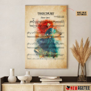 Personalized Princess Merida The Brave Touch The Sky Sheet Music Poster Canvas