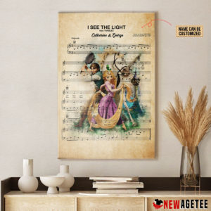 Personalized Tangled Rapunzel I See The Light Sheet Music Poster Canvas