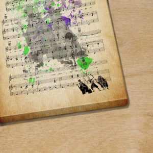 Grim Grinning Ghosts Sheet Music Haunted Mansion Hitchhiking Ghosts over Poster Canvas