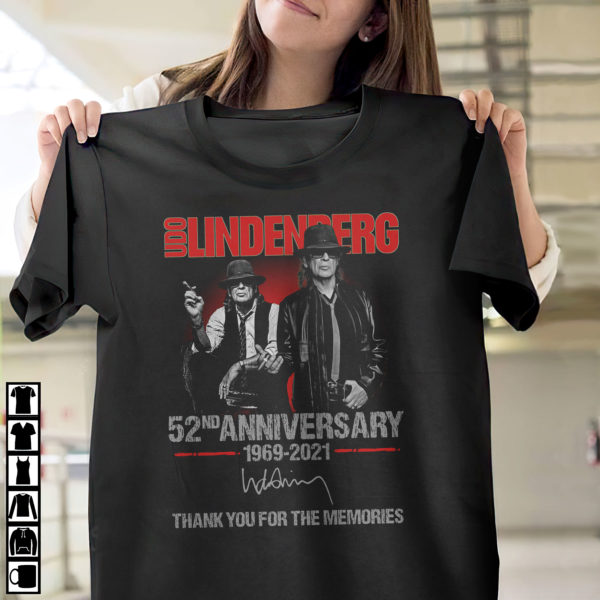 Udo Lindenberg 52nd anniversary 1969 2021 thank you for the memories shirt