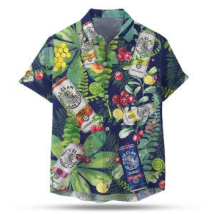 White Claw Hard Seltzer Hawaiian Shirt, Beach Shorts For Men