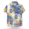 Hawaiian shirted duck button up shirt