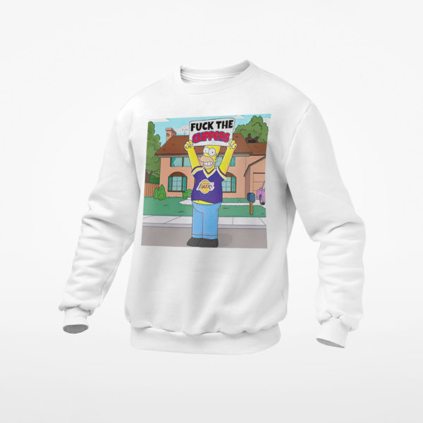 Simpson los angeles lakers fuck the clippers shirt, ls, hoodie