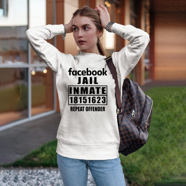 Facebook jail inmate 18151623 repeat offender shirt, ls, hoodie