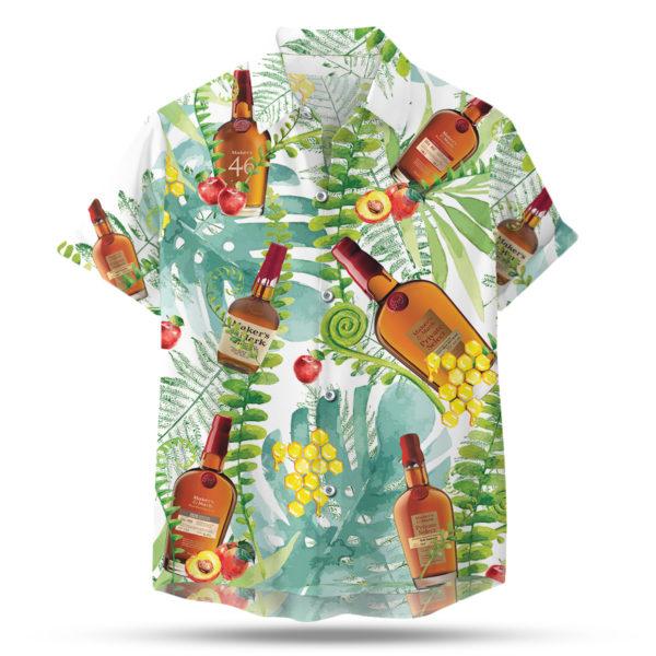 Makers Mark Bourbon Hawaiian Shirt, Tropical Beach Shorts
