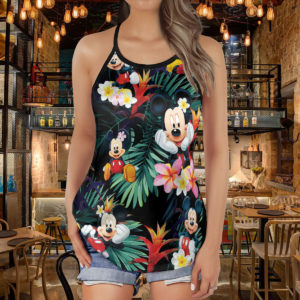 Mickey Mouse Criss Cross Open Back Tank Top