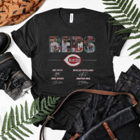 Cincinnati Reds Signatures Shirt, Joey Votto, Nicholas Castellanos, Jesse Winker, Jonathan India