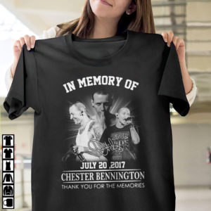 In memory of july 20 2017 Chester Bennington thank you for the memories signature shirt, ls, hoodie