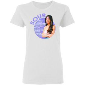Olivia Rodrigo sour brutal traitor drivers license 2 step forward shirt, ls, hoodie