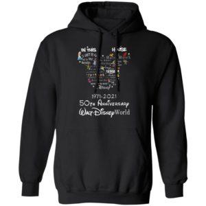 In this let go house disney 1971 2021 50th anniversary walt disney world shirt, hoodie